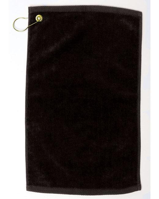 Pro Towels Velour Fingertip Golf Towel - Black