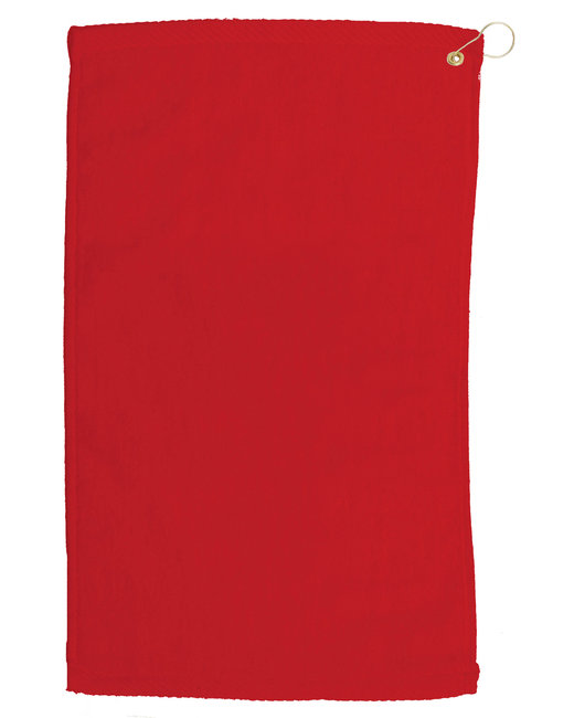 Pro Towels Velour Fingertip Golf Towel - Red