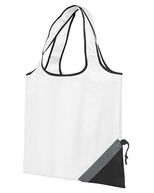 Gemline Latitiudes Foldaway Shopper Tote - White/ Black