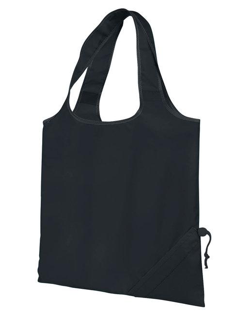 Gemline Latitiudes Foldaway Shopper Tote - Black