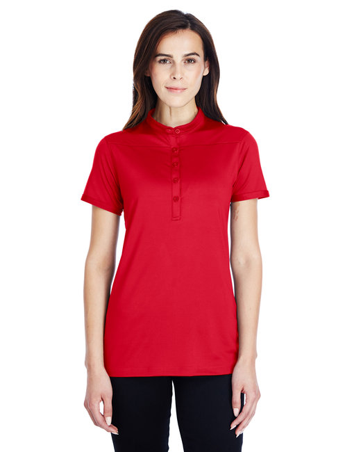 Under Armour SuperSale Ladies' Corporate Performance Polo 2.0 - Red/ White  600
