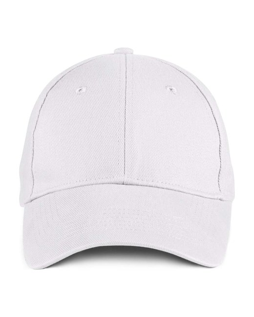 Anvil Solid Brushed Twill Cap - White