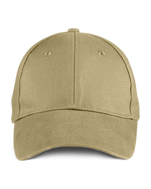Anvil Solid Brushed Twill Cap - Khaki