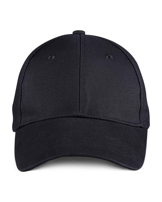 Anvil Solid Brushed Twill Cap - Black