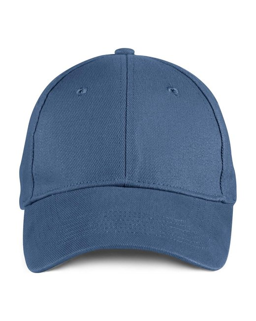 Anvil Solid Brushed Twill Cap - Navy