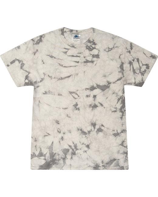 Tie-Dye Crystal Wash T-Shirt - Silver