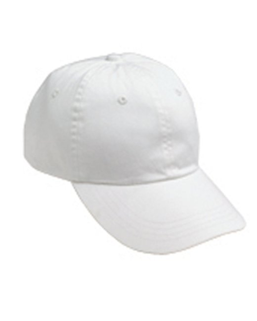 Anvil Adult Solid Low-Profile Pigment-Dyed Cap - White