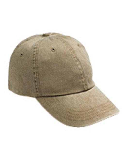 Anvil Adult Solid Low-Profile Pigment-Dyed Cap - Khaki