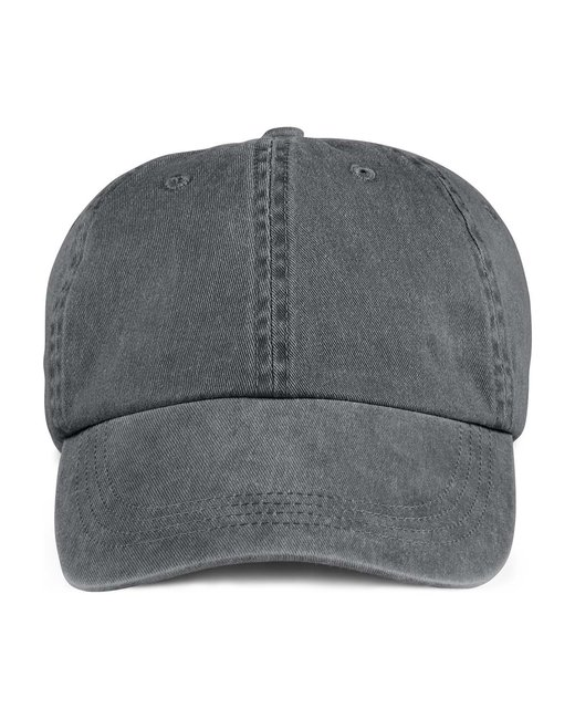 Anvil Adult Solid Low-Profile Pigment-Dyed Cap - Charcoal