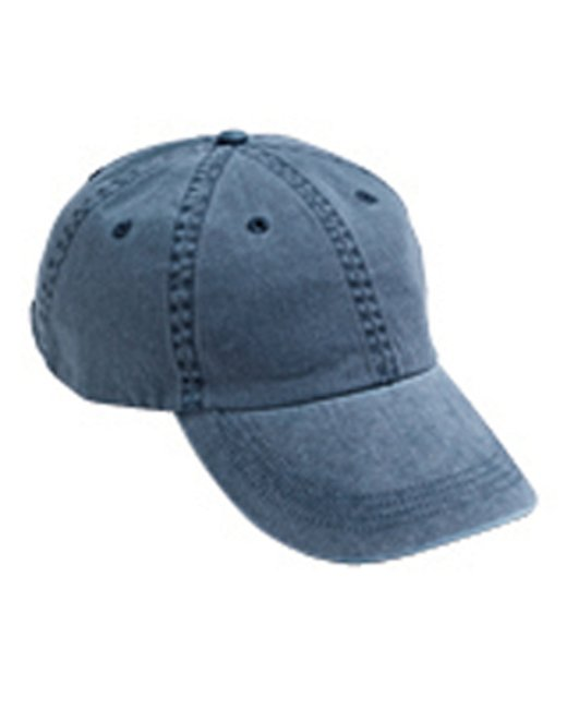 Anvil Adult Solid Low-Profile Pigment-Dyed Cap - Navy