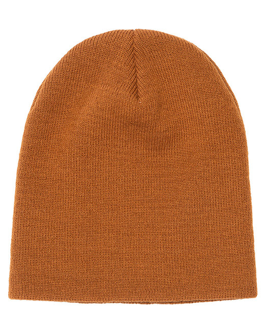 Yupoong Adult Knit Beanie - Caramel