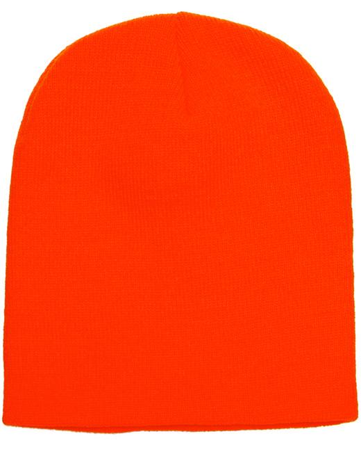 Yupoong Adult Knit Beanie - Blaze Orange