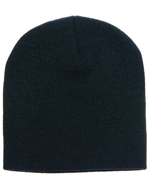Yupoong Adult Knit Beanie - Black