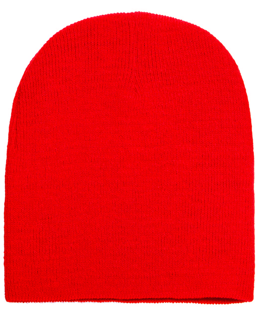 Yupoong Adult Knit Beanie - Red