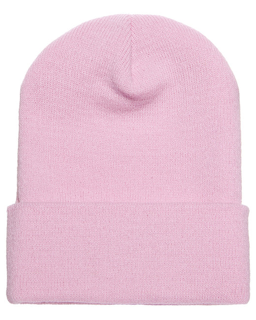 Yupoong Adult Cuffed Knit Beanie - Pink