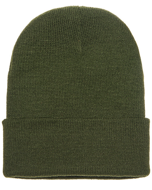 Yupoong Adult Cuffed Knit Beanie - Olive