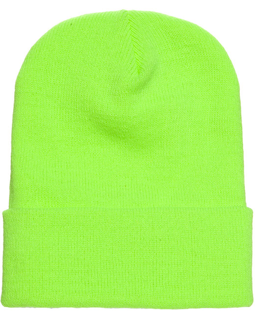 Yupoong Adult Cuffed Knit Beanie - Safety Green