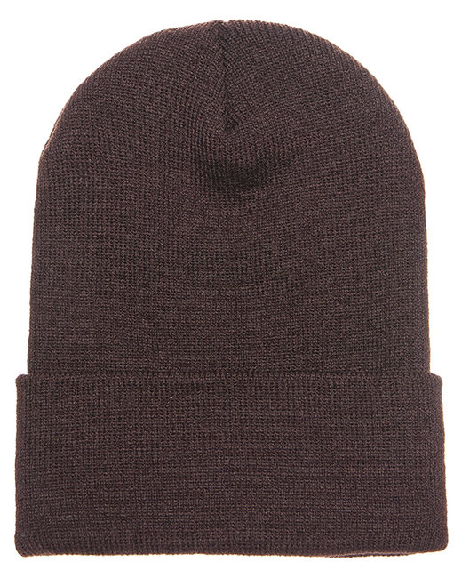 Yupoong Adult Cuffed Knit Beanie - Brown