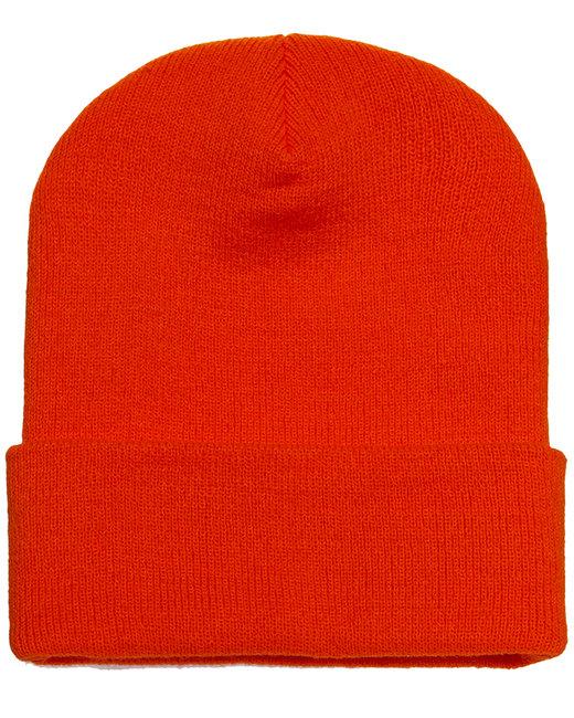 Yupoong Adult Cuffed Knit Beanie - Orange