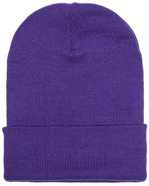 Yupoong Adult Cuffed Knit Beanie - Purple