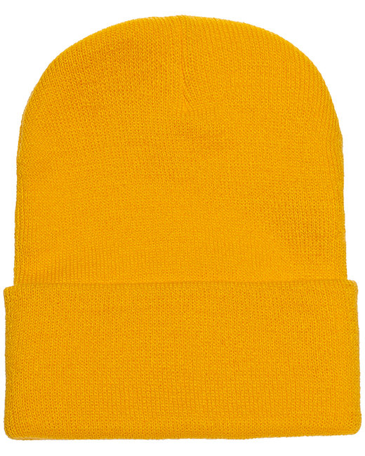 Yupoong Adult Cuffed Knit Beanie - Gold