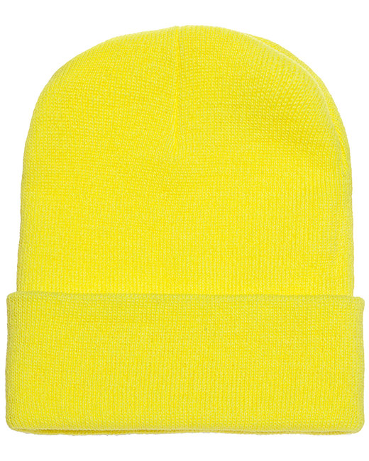 Yupoong Adult Cuffed Knit Beanie - Safety Yellow