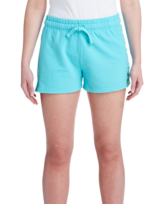 Comfort Colors Ladies' French Terry Short - Lagoon Blue