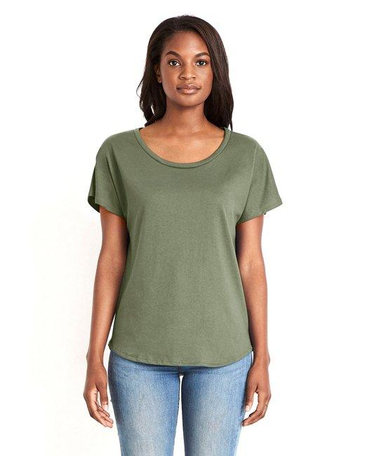 Next Level Ladies' Ideal Dolman - Military Green
