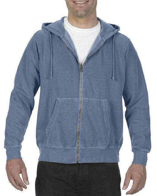 Comfort Colors Adult Full-Zip Hooded Sweatshirt - Blue Jean
