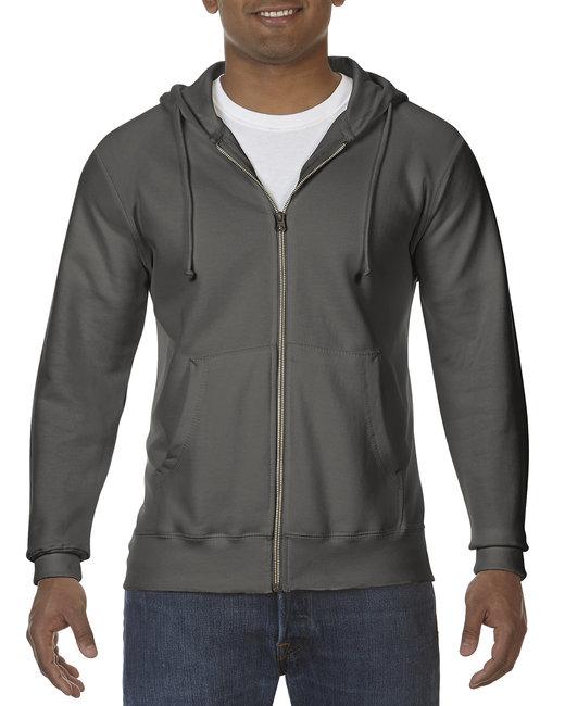 Comfort Colors Adult Full-Zip Hooded Sweatshirt - Pepper