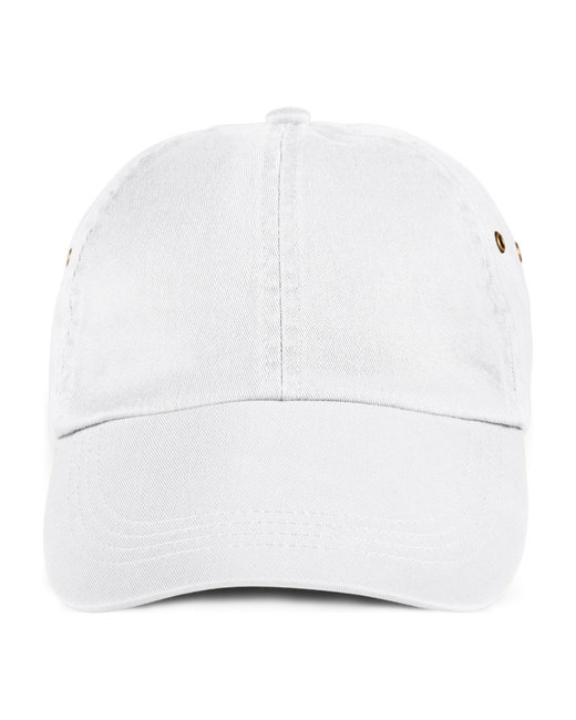 Anvil Adult Solid Low-Profile Twill Cap - White