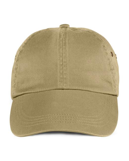 Anvil Adult Solid Low-Profile Twill Cap - Khaki
