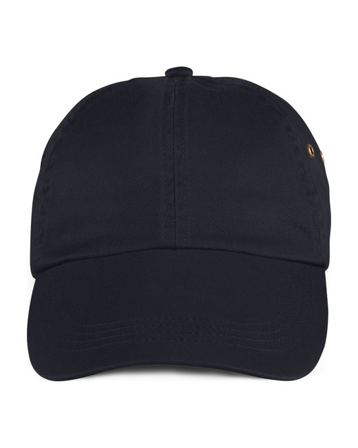 Anvil Adult Solid Low-Profile Twill Cap - Black