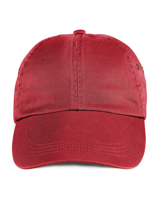 Anvil Adult Solid Low-Profile Twill Cap - Red
