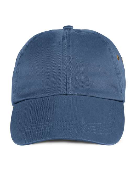 Anvil Adult Solid Low-Profile Twill Cap - Navy