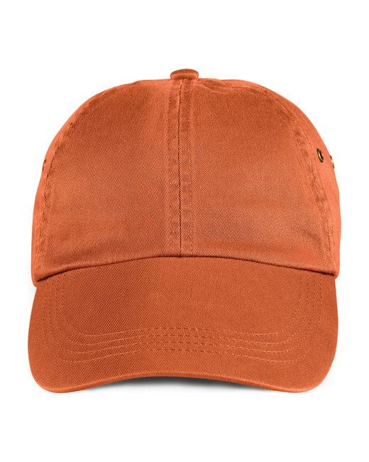 Anvil Adult Solid Low-Profile Twill Cap - Burnt Orange