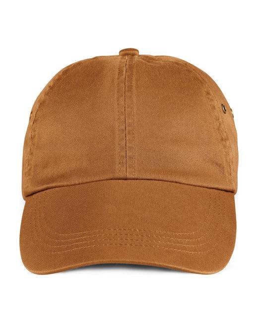 Anvil Adult Solid Low-Profile Twill Cap - Texas Orange
