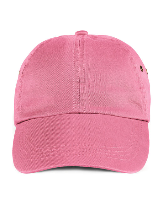 Anvil Adult Solid Low-Profile Twill Cap - Charity Pink