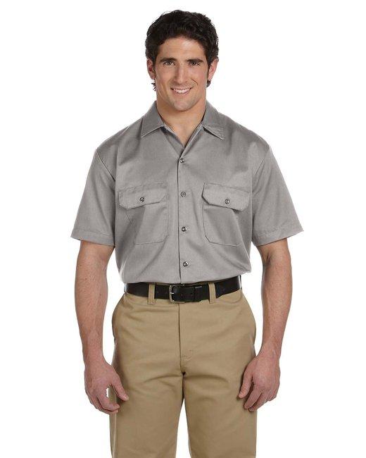 Dickies Men's 5.25 oz./yd² Short-Sleeve WorkShirt - Silver Gray