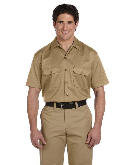 Dickies Men's 5.25 oz./yd² Short-Sleeve WorkShirt - Khaki