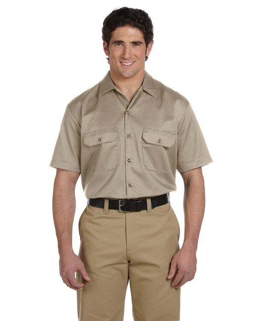 Dickies Men's 5.25 oz./yd² Short-Sleeve WorkShirt - Desert Sand