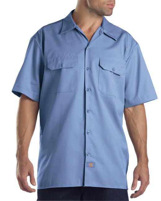 Dickies Men's 5.25 oz./yd² Short-Sleeve WorkShirt - Gulf Blue