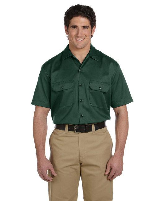 Dickies Men's 5.25 oz./yd² Short-Sleeve WorkShirt - Hunter Green