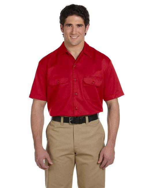 Dickies Men's 5.25 oz./yd² Short-Sleeve WorkShirt - Red