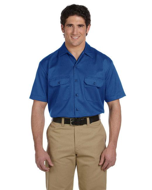 Dickies Men's 5.25 oz./yd² Short-Sleeve WorkShirt - Royal Blue