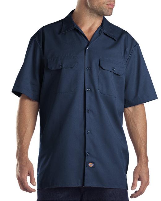 Dickies Men's 5.25 oz./yd² Short-Sleeve WorkShirt - Navy