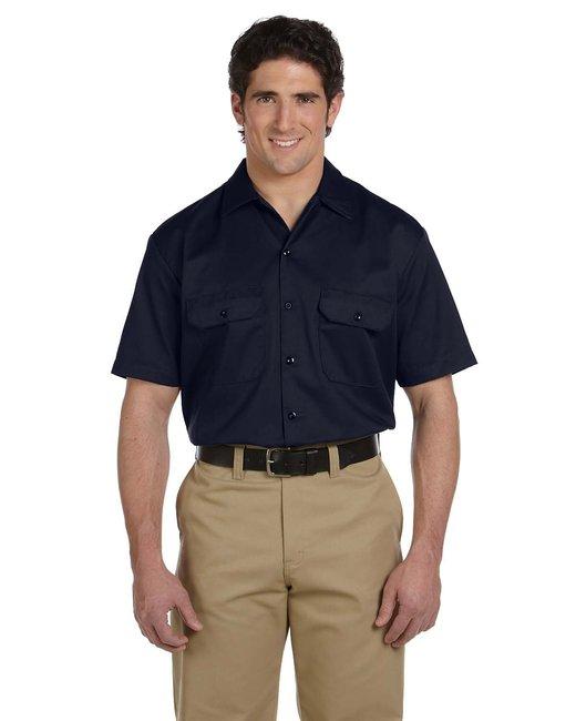 Dickies Men's 5.25 oz./yd² Short-Sleeve WorkShirt - Dark Navy