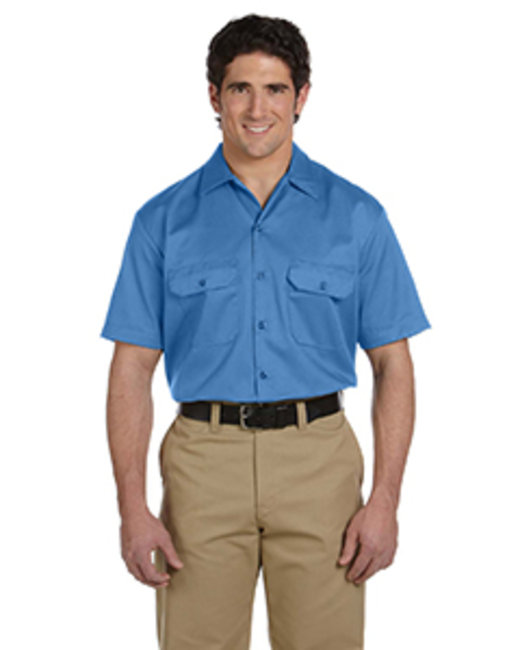 Dickies Men's 5.25 oz./yd² Short-Sleeve WorkShirt - Light Blue