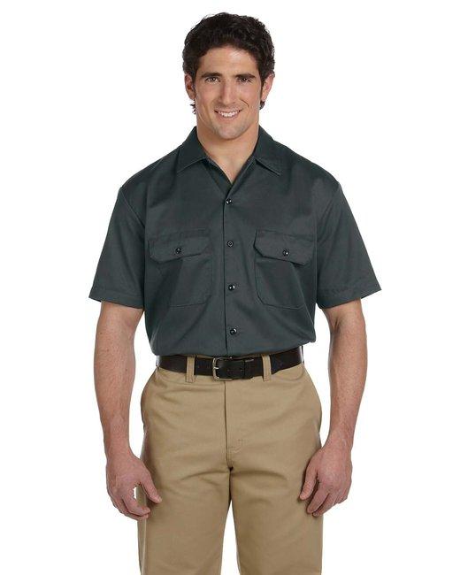 Dickies Men's 5.25 oz./yd² Short-Sleeve WorkShirt - Charcoal