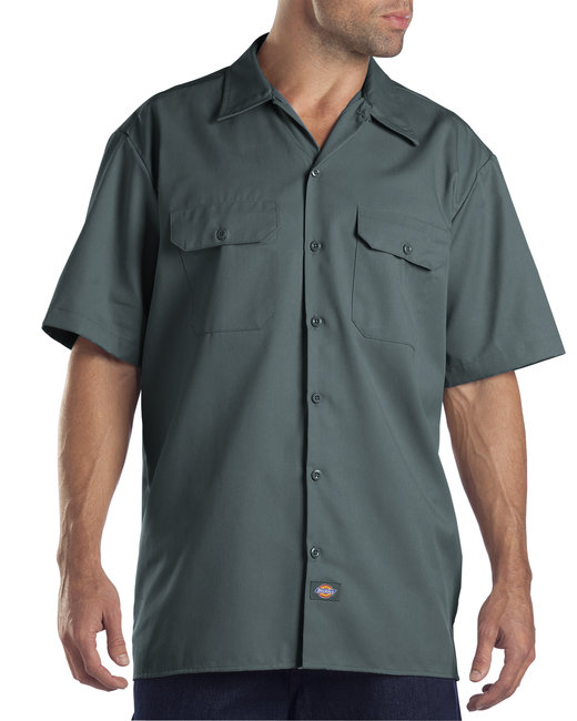 Dickies Men's 5.25 oz./yd² Short-Sleeve WorkShirt - Lincoln Green